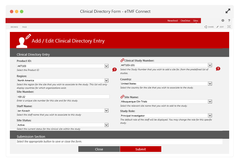 Add Sites & Studies through a Clinical Directory Wizard