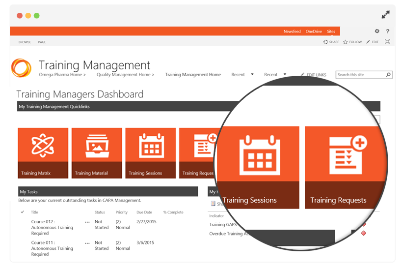 Training Management Dashboard