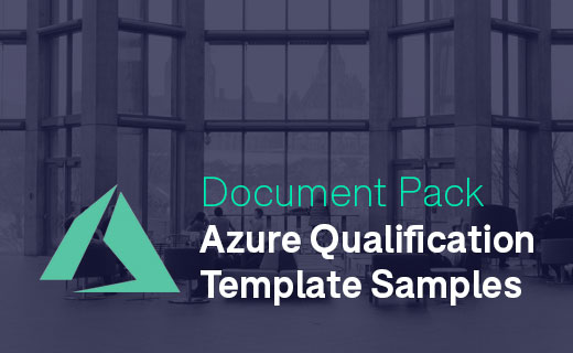 Document Samples Azure Qualification Templates