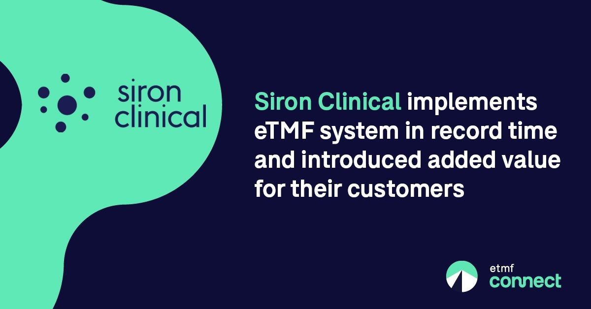 Siron Clinical Adopts eTMF Connect